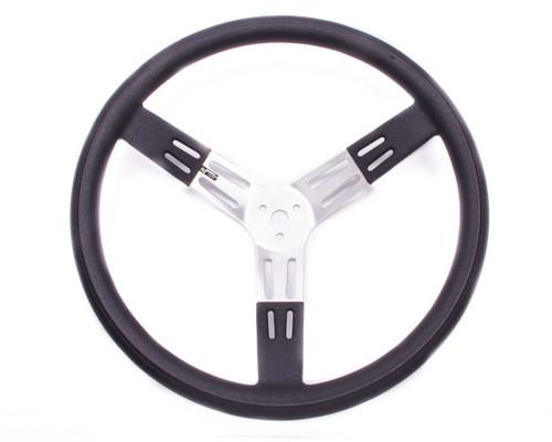 Longacre 52-56811 17in. Steering Wheel Black Alum. Smooth Grip
