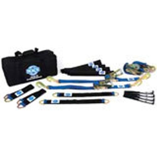 Macs Custom Tie-Downs 511658 4 Tie Downs Direct Hook & 4-40in Thru Wheel Stra