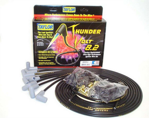 Taylor/Vertex 83051 Univ Thundervolt Plug Wire Set 90 deg Black