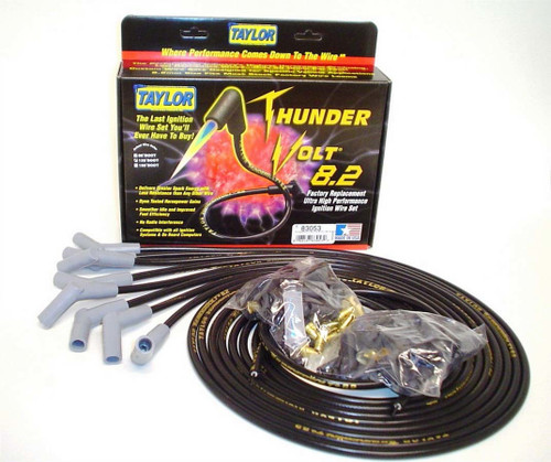 Taylor/Vertex 83053 Univ Thundervolt Plug Wire Set 135 deg Black