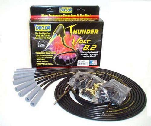 Taylor/Vertex 83055 Univ Thundervolt Plug Wire Set 180 deg Black