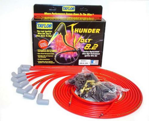 Taylor/Vertex 83251 Univ Thundervolt Plug Wire Ste 90 deg Red