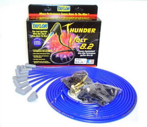 Taylor/Vertex 83651 Univ Thundervolt Plug Wire Set 90 deg Blue