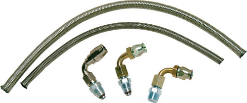 Borgeson 925203 Stainless Power Steering Hose Kit