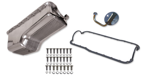 Weiand 6524FWND 4qt Alm Finned Oil Pan Kit SBF 289/302 Polished