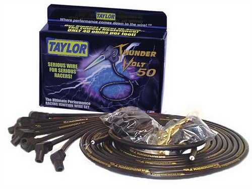 Taylor/Vertex 98053 Univ Fit Thundervolt 10.4mm Plug Wires Black