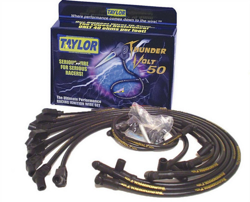 Taylor/Vertex 98058 Black Thundervolt Spark Wire Set Ford 5.0L