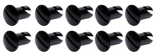 Ti22 Performance 8106 Oval Head Dzus Buttons .550 Long 10 Pack Black
