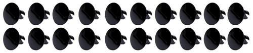 Ti22 Performance 8110 Large Head Dzus Buttons .500 Long 10 Pack Black