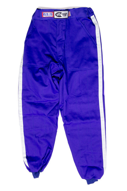 Rjs Safety 200090305 Pants Nomex D/L LG Blue SFI-5