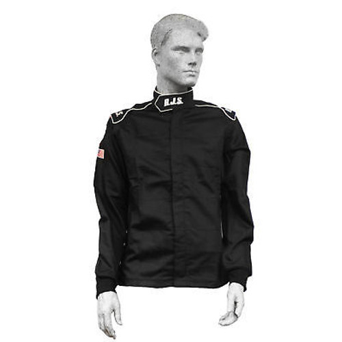 Rjs Safety 200490105 Jacket Elite Large SFI- 3.2A/20 Black