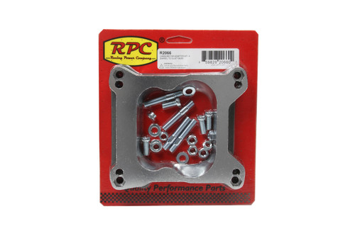 Racing Power Co-Packaged R2066 Carburetor Adapter Kit- 4 Barrel To Q-Jet Base