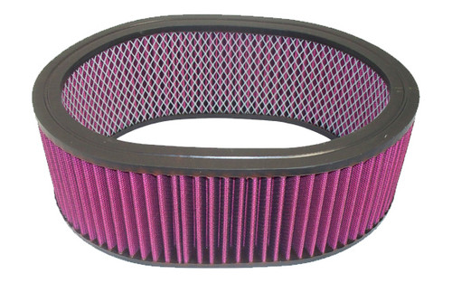Racing Power Co-Packaged R2126 12In X 4In Oval Washable Element