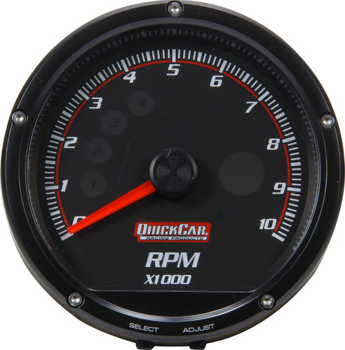Quickcar Racing Products 63-002 Redline Multi-Recall Tach Black