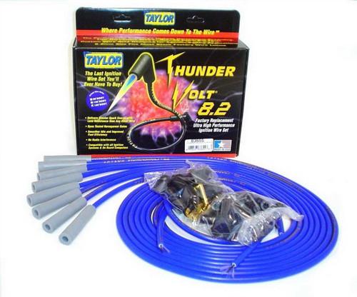 Taylor/Vertex 83655 Univ Thundervolt Plug Wire Set 180 deg Blue