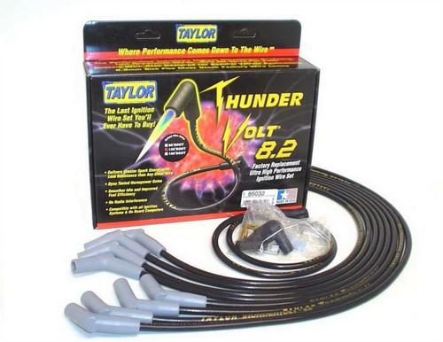 Taylor/Vertex 86032 Thundervolt 8.2 Plug Wire Set BBC Black