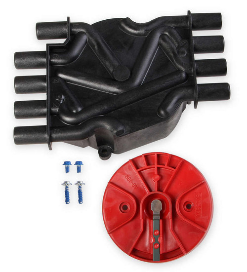 Msd Ignition 80173 Cap/Rotor Kit - GM V8 Vortec Distributor Black