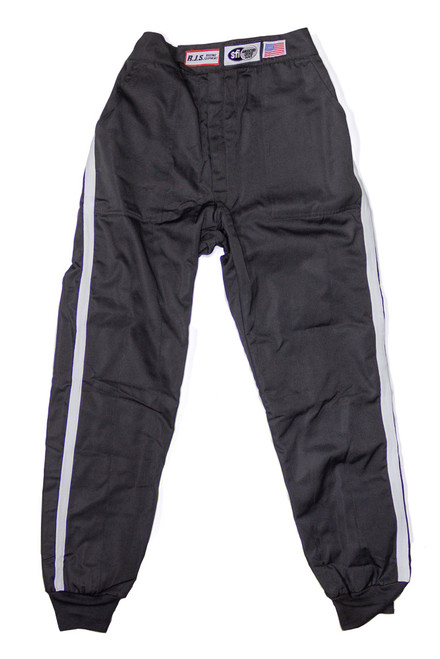 Rjs Safety 200090105 Pants Nomex D/L LG Black SFI-5