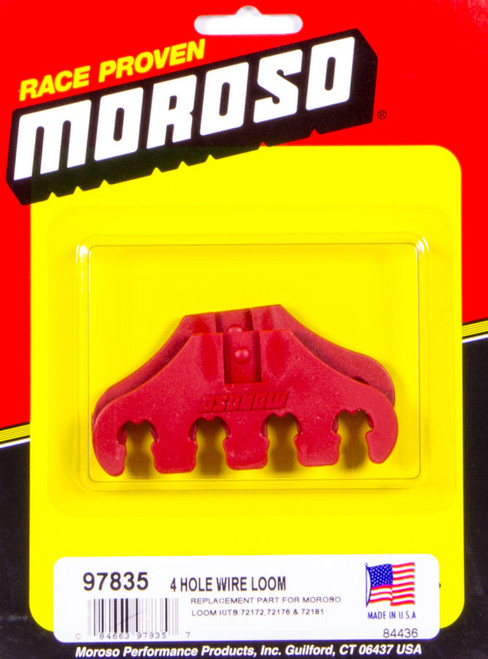 Moroso 97835 Red 4-Hole Wire Loom