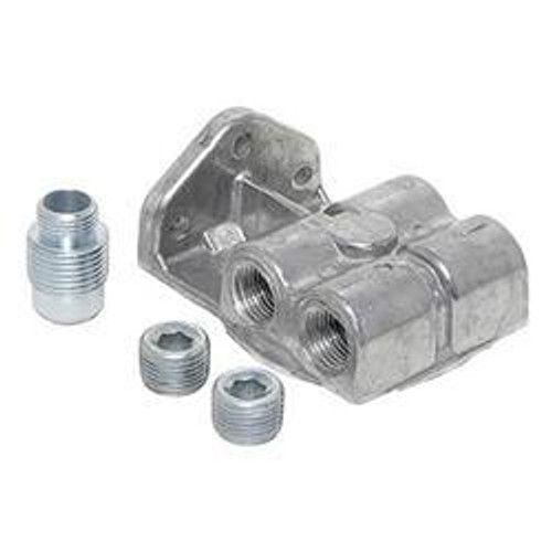 Perma-Cool 1795 Oil Filter Mount  1in-12 Ports: 1/2in NPT  L/R