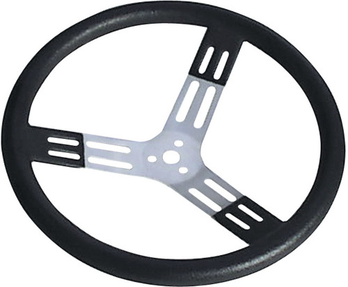 Longacre 52-56820 15in. Steering Wheel Black With Bumps Nat. Fi