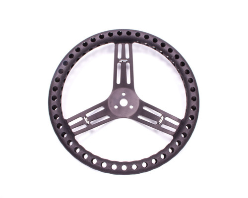 Longacre 52-56833 Streering Wheel 14in Dished Drilled Black