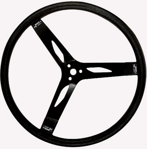 Longacre 52-56851 17in. Steering Wheel Black Steel Smooth Grip