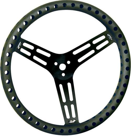 Longacre 52-56867 Steering Wheel 15in Flat Drilled Black