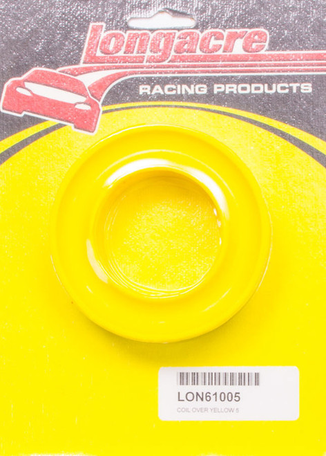 Longacre 52-61005 Coil Over Spring Rubber Yellow 5