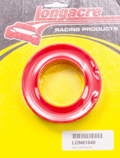 Longacre 52-61040 Coil Over Spring Rubber Red 40