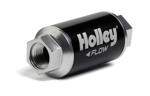 Holley 162-550 Billet HP Fuel Filter - 3/8NPT 10-Micron 100GPH