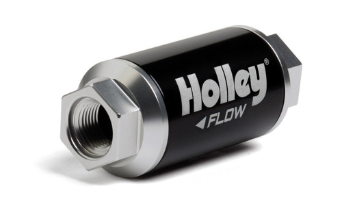 Holley 162-551 Billet HP Fuel Filter - 3/8NPT 100-Micron 100GPH