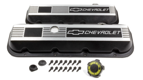Gm Performance Parts 12495488 Aluminum Valve Covers - BBC- Short
