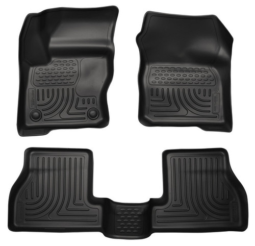 Husky Liners 98771 12-  Ford Focus Front/ 2nd Floor Liners Black