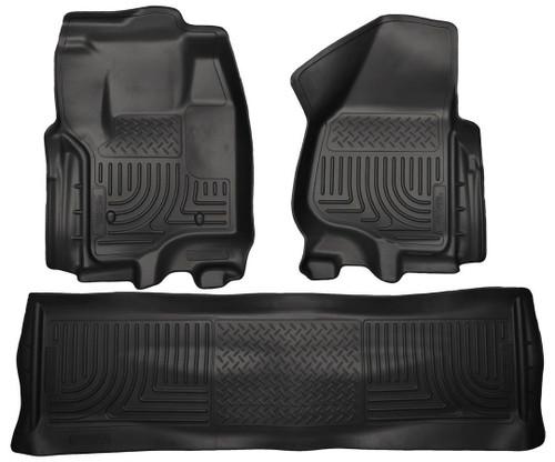 Husky Liners 99711 Front & 2nd Seat Floor Liners Black