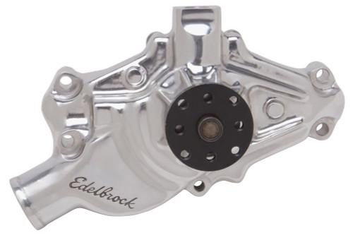 Edelbrock 8822 SBC Water Pump - Short  Polished