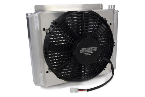 Fluidyne Performance DB-30613 Transmission Cooler w/ Fan & Shroud Double Pass