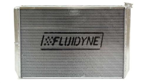 Fluidyne Performance FRP20-SLM-CM Radiator Dbl Pass w/Oil Cooler & Fan 29in x 18in