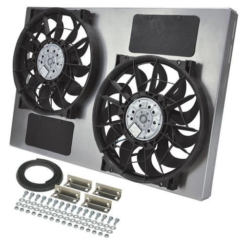 Derale 16842 Dual RAD Fan w/Alum Shroud Assembly