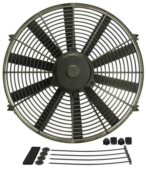 Derale 16916 16 Straight Blade Electric Fan