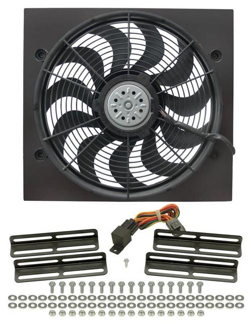 Derale 16919 18in High Output RAD Fan Single 2 Spd Puller