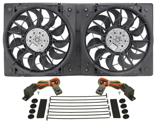 Derale 16928 13in Dual High Output RAD Fans Puller
