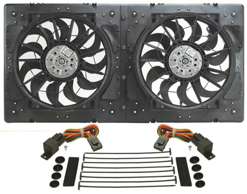 Derale 16934 14in Dual High Output RAD Fans Puller