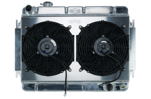 Cold Case Radiators CHE542AK 66-67 Chevelle Radiator & Dual 12in Fan Kit AT