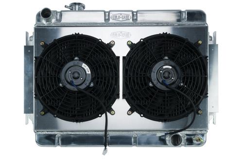 Cold Case Radiators CHE542K 66-67 Chevelle Radiator & Dual 12in Fan Kit MT