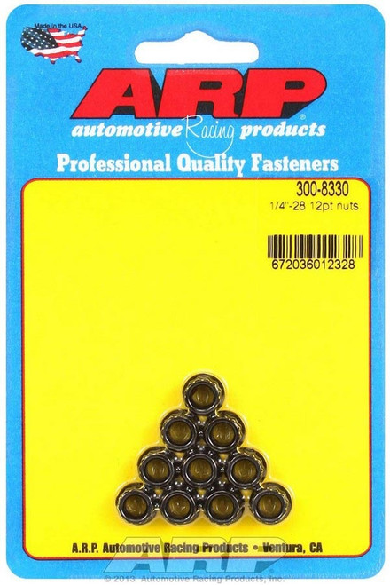 Arp 300-8330 1/4-28 12pt. Nuts (10)