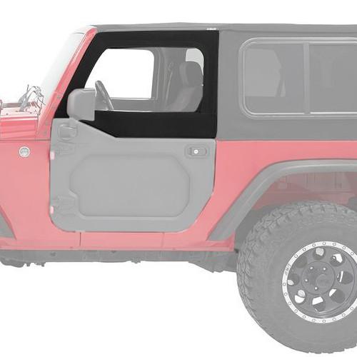 Bestop 51733-17 Upper Fabric Half Doors Jeep 07-18 Wrangler JK