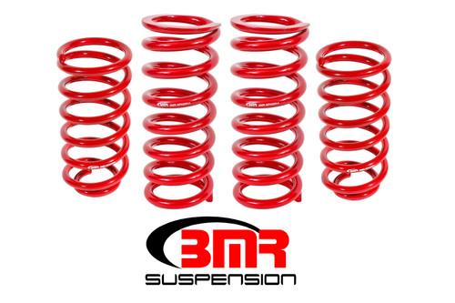 Bmr Suspension SP027R 79-04 Mustang Lowering Spring Kit 1in Drop