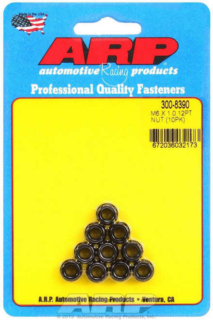 Arp 300-8390 6mm x 1.00 12pt. Nuts (10)