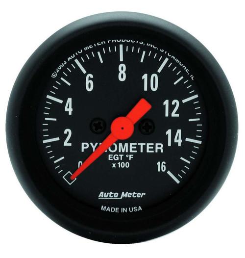 Autometer 2654 2-1/16in Z-Series EGT Pyrometer Kit 0-1600